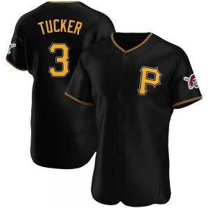 Men's Pittsburgh Pirates Cole Tucker Authentic Black Alternate Jersey