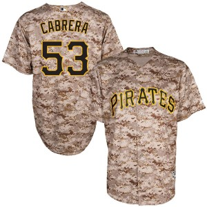 Youth Majestic Pittsburgh Pirates Melky Cabrera Authentic Camo Cool Base Alternate Jersey