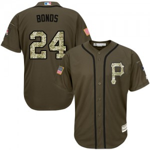 Youth Majestic Pittsburgh Pirates Barry Bonds Authentic Green Salute to Service Jersey