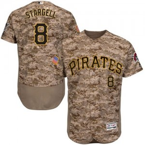 Men's Majestic Pittsburgh Pirates Willie Stargell Authentic Camo Flexbase Collection Jersey